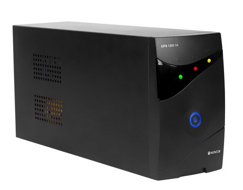 Woxter UPS 1200 VA - Sistema SAI de alimentación ininterrumpida SAI (1200VA/720 watts, Autonomía aproximativamente 20-30 minutos), Fuente de alimentación Continua, 3 tomas Schuko
