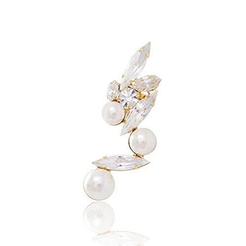 Aeromdale 1 pendiente de aleación de cristal para mujer, borde dorado, para el lóbulo de la oreja