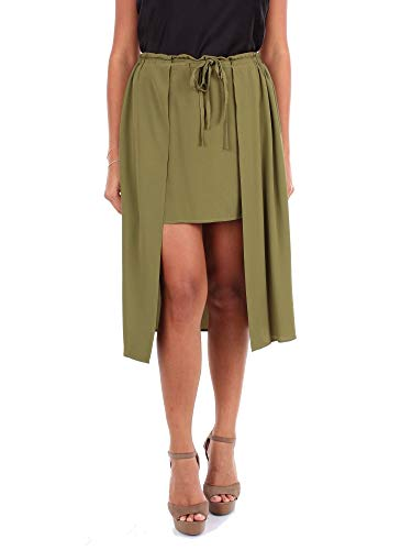Mauro Grifoni Luxury Fashion Damen GE2500024780 Grün Seide Rock   Jahreszeit Outlet