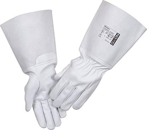 HandschuhMan. OX-ON Tig Schweißerhandschuhe aus weichem Leder lang Rosenhandschuhe Gr. 7-11 (10/XL)