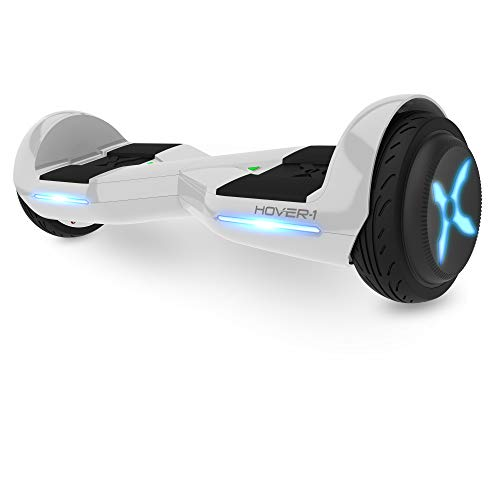 Hover-1 Dream Hoverboard Electric Scooter Light Up LED Wheels, Cotton White, 25 x 9 x 9