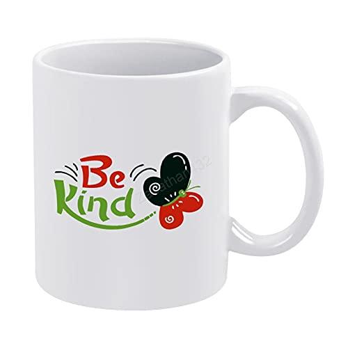 Be Kind - Taza de café para mamá papá, taza de té, taza de café inspiradora, taza de té o café de 11 onzas