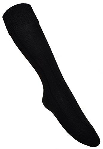 WB Socks Herren Langsocken, schwarz, Wollmischung
