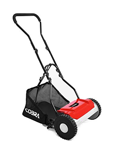 Cobra HM381 Manual Garden Lawnmower, Hand Cylinder Mower, 38cm (15in) cutting width