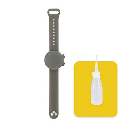 Braccialetto in silicone disinfettante da 10 ml, erogatore di disinfettante per le mani portatile con cinturino da polso, pratico e più sicuro per