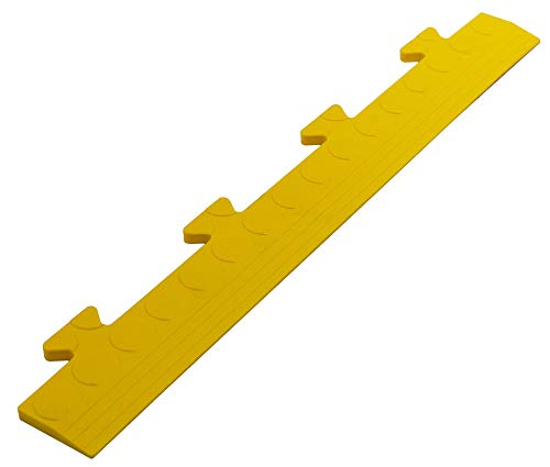 Auffahrt Randleiste Noppen gelb Zapfen für Gewerbeboden PVC Fliesen Garagenboden Industrieboden Klick-Verlegung