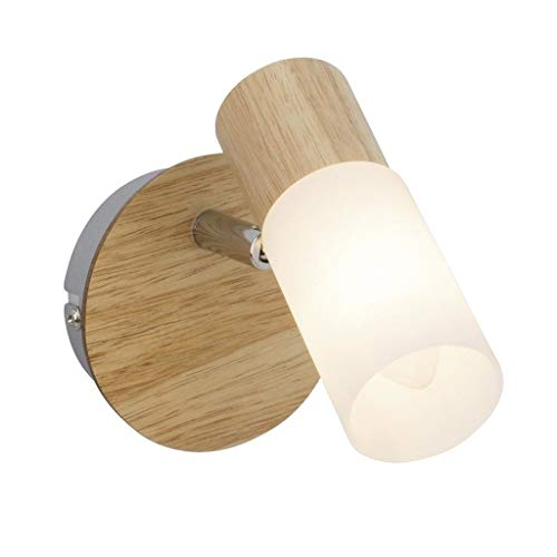 Brilliant Babsan Wandspot Wandstrahler schwenkbar holz hell/weiß, 1x E14 geeignet für Kerzenlampen bis max. 3,5W