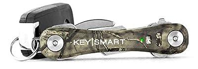 KeySmart Pro - Key Holder w LED & Tile Smart Technology (up to 10 Keys, Camo)