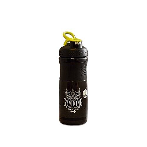 Gym King Blender Bottle Sportmixer 828 ml Shaker 1er Pack Protein Shaker (Schwarz-Grün)