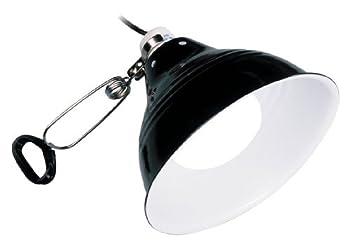 La lampe à pince Glow Light Exo Terra avec douille en porcelaine permet de placer les sources de chaleur et d'éclairage à l'endroit désiré Solide, elle est fabriquée à partir d'un réflecteur métallique, d'une douille en céramique résistante à la chal...