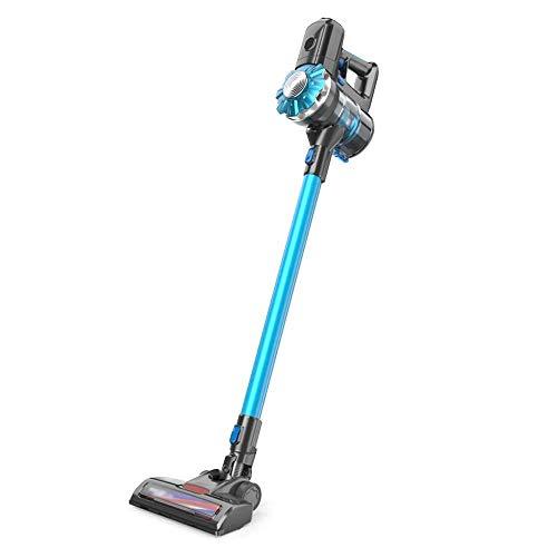 Aspirador sin cable Aspiradora - coche pequeño hogar con un limpiador de bolsa de vacío de carga LED de luz de mano inalámbrico independiente, 104x24x21.2cm Potente aspirador de mano (Color: Azul) LUD