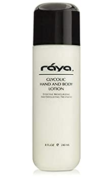 RAYA Glycolic Hand and Body Lotion with AHA  G-333  | Soothing Moisturizing Exfoliating and Conditioning Lotion for the Hands Arms Legs and Body | Made with Alpha Hydroxy Acids