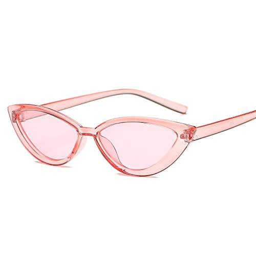 Gafas De Sol Gafas De Sol con Montura Transparente Estilo Ojo De Gato, Accesorios para Mujer, Gafas De Sol Femeninas De Moda En La Playa, Uv400 C3Pink