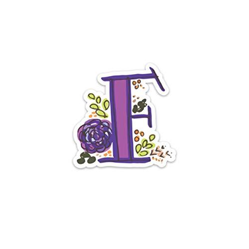 Promini Monogram F - Adhesivo decorativo para portátil (5 pulgadas, 2 unidades)