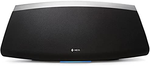 HEOS 7 Premium Wireless Speaker with Multicolor LED Status Indicator, Volume Controls for Kitchens, Patios, Large Rooms | Online Music Streaming via Wi-Fi & Bluetooth | Works with Amazon Alexa (Black)