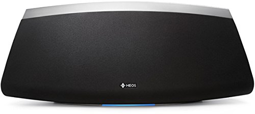 HEOS 7 Premium Wireless Speaker with Multicolor LED Status Indicator, Volume Controls for Kitchens, Patios, Large Rooms | Online Music Streaming via Wi-Fi & Bluetooth | Amazon Alexa Compatible (Black)