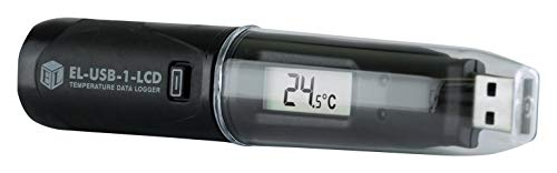Datenlogger, USB, Temp, mit LCD, Datenlogger Typ USB Temperatur, 1-Kanal, Easylog, Lesekapazität 16378