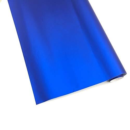 Azul cromo vinilo envoltura de vinilo mate PVC Etiqueta engomada de hielo Decorativo para automóvil de estilo Cuerpo Interior DIY externo accesorios (Color Name : Blue)