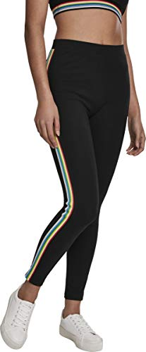 Urban Classics Damen Ladies Multicolor Side Taped Leggings, Black, S