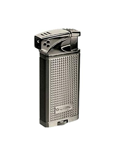 Vector Maximus 45 Soft Flame Pipe Lighter w/Tamper Tool (Hi Polish Chrome)