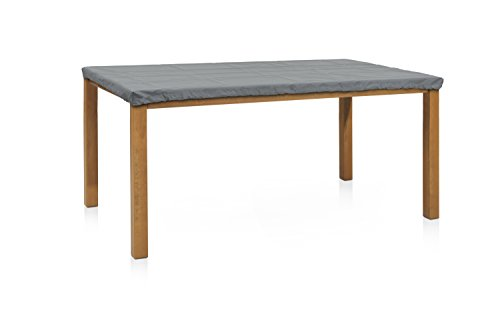 Eigbrecht 146106 Wood Cover Abdeckhaube Schutzhülle für Tischplatten, ohne Abhang rechteckig grau 180x100cm