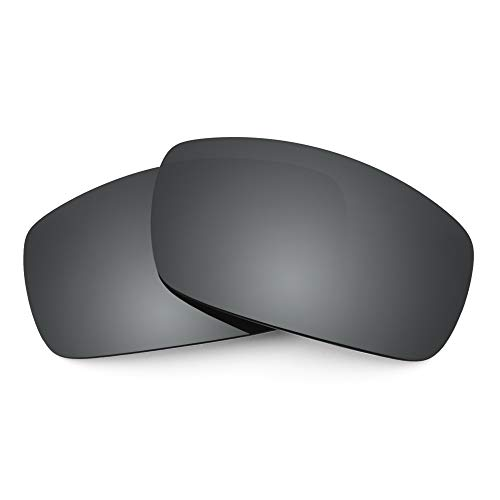 Revant Lentes de Repuesto Compatibles con Gafas de Sol Electric EC-DC XL, No Polarizados, Negro Cromado MirrorShield