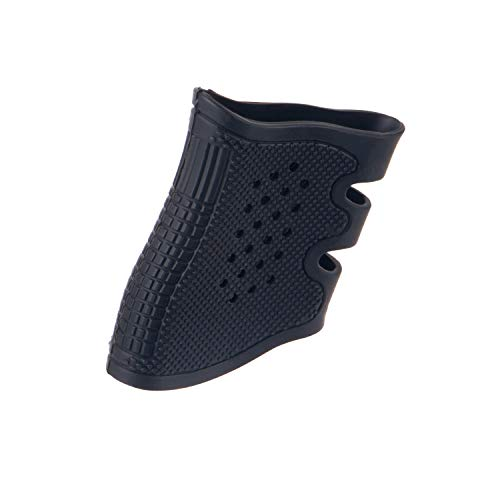 FOCUHUNTER Empuñaduras Sintéticas de Puño con empuñadura de Agarre Tactical Camouflage Grip Cloves Pistola de Mano para Beretta Grip Sleeve Glock 17, 20, 21, 22, 31, 34, 35, 37 (Negro)