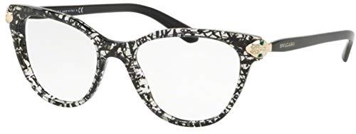 Bulgari 0BV 4156B 5376 52 Gafas de sol, Negro (Black San Pietrino), Mujer
