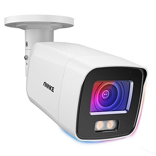ANNKE NC800 Acme 4K Ultra HD PoE IP Camera with True Full Color Night Vision, 8MP Outdoor PoE Security Bullet Camera with 130dB WDR & 3D DNR, AI Human Detection, All Metal Housing & IP67 (0.0005 Lux)