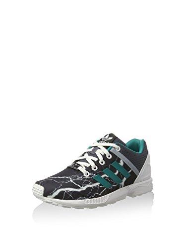 adidas Unisex-Kinder ZX Flux Split Sneaker, dunkelblau/grün/weiß, 35.5 EU
