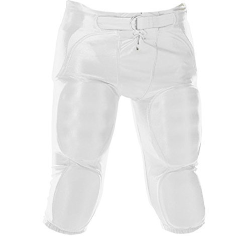 MARTIN SPORTS INTEGRATED DAZZLE FOOTBALL PANTS-YOUTH-WHITE-XS