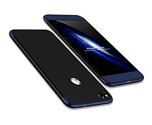 Funda Huawei P8 Lite 2017(Honor 8 Lite) 360 Grados Azul Negro Ultra Delgado Todo Incluido Caja del teléfono de la protección 3 en 1 PC Case JOYTAG