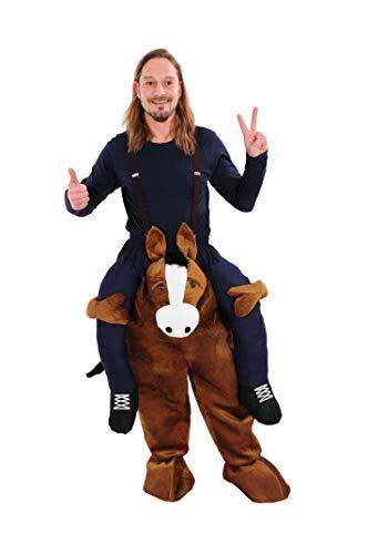 Kostüm Pferd Huckepack Aufsitzkostüm für Erwachsene Fasching Karneval Junggesellenabschied