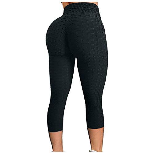 Leggings para Mujer Scrunch Butt Leggings de Cintura Alta Levantamiento de Glúteos Pantalones de Yoga Medias de Botín Texturizadas Cómodas 🔥