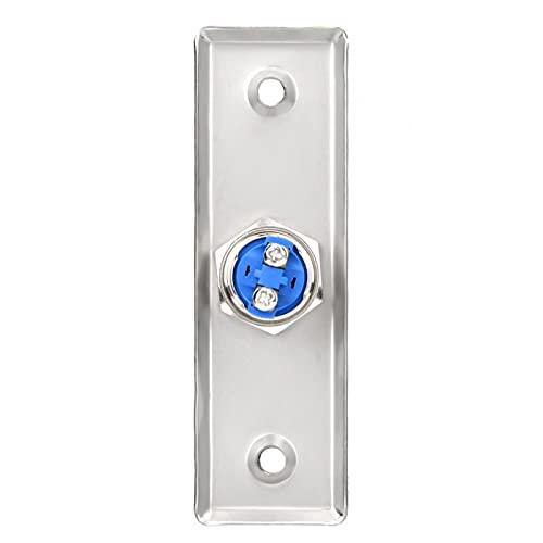 AOER Botón de Salida de Puerta Abierta Interruptor de Sistema de Control de Acceso de Puerta de Tiempo de Uso prolongado Interruptor de Control de Acceso de Puerta fácil de Usar Uso Duradero,
