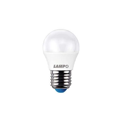 LAMPO SF456WE27BF - Bombilla esférica E27, 6 W, 230 V, 6400 K, luz fría, 520 lm