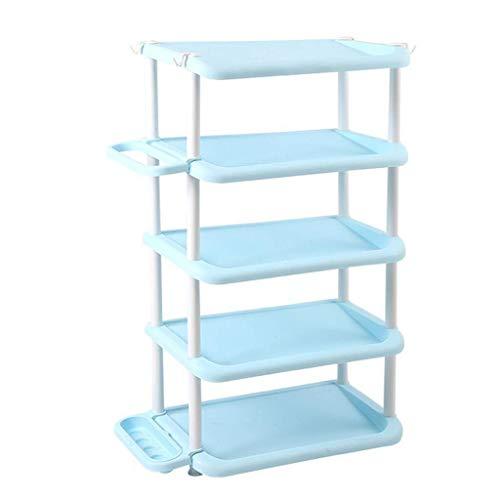 YLDXP Zapatero - Multi-Capa, pequeño, Simple, para el hogar, Que Ahorra Espacio, gabinete para Zapatos, Material Grueso de PP, Duradero, para sombrilla Lateral, con Ranura, para Ahorro de Espacio,