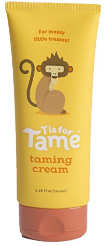 T is for Tame - Hair Taming Matte Cream | All-Natural Hair Products for Babies, Toddlers & Kids Made with Organic Coconut Oil & Jojoba | Light Hold for Flyaway Hair | Not Stiff, Sticky, or Greasy