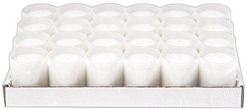 Sovie Refill Kerzen 24 weiße Teelichter mit extra Langer Brenndauer (24h) für Feiern/Party/Gastronomie