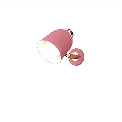 Muur Sconce Lights Muur Licht IJzeren lampenkap Roze Ijzer Base Log Accessoires Eenvoudige Creatieve Lezen Wandlamp Houder