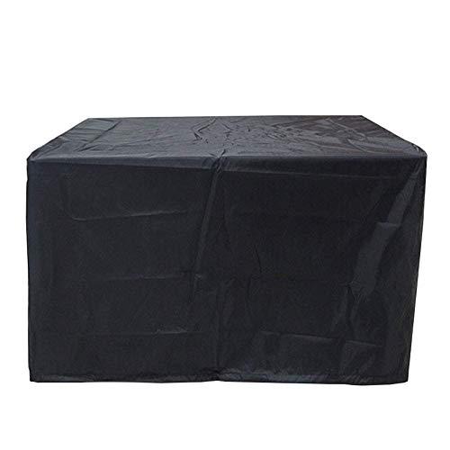 ZYF Garden Furniture Covers Rectangular Garden Table Cover Oxford Waterproof Windproof Patio Set Cover,Black Patio Furniture Covers (Color : Black, Size : 120×120×74CM)