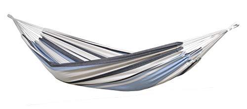 AMAZONAS Hängematte Salsa Marine wetterfest und UV-beständig 210cm x 140cm bis 150kg blaugestreift