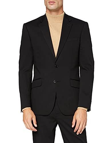 Amazon-Marke: find. Herren Blazer Stretch Regular Fit Blazer, Schwarz (Black Black), 50R, Label: 40R
