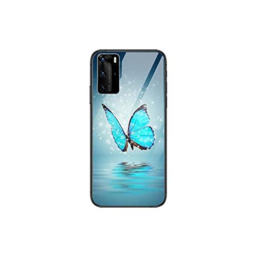 Linda mariposa teléfono caso para Huawei P 40 30 20 10 9 8 Lite E Pro Plus negro Etui Coque pintura hoesjes comic fas-10-Huawei P Smart Z