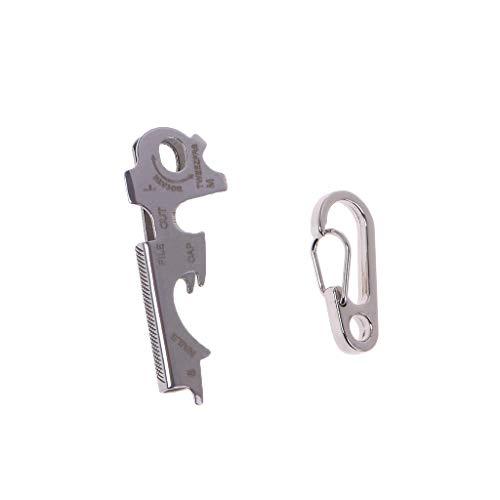 guangzhou Outil de Survie Multifonctionnel de en Acier Inoxydable TU47 True Utility Keytool Key Multi Tool Best Pocket Multitool Set EDC Key Tool Porte-clé Multifonction Argent
