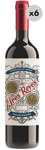Tres Reyes Tempranillo-Syrah, Vino Tinto, 6 Botellas, 75 cl