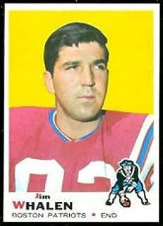 1969 Topps Regular (Football) card#203 Jim Whalen of the Boston Patriots Grade very good/excellent
