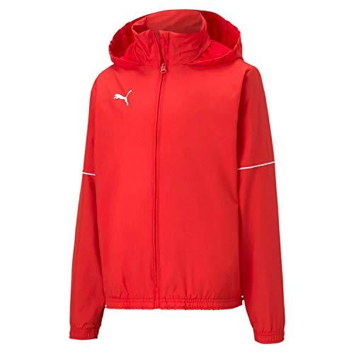 PUMA Jungen teamGOAL Rain Jacket Core Jr Trainingsjacke, Red/White, 152
