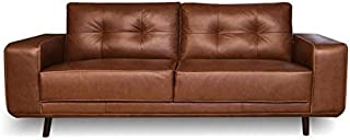 Genuine Leather Sofa - Fiesta Collection (Chestnut)