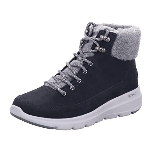Skechers Damen Glacial ULTRA-16677 Schneestiefel, schwarz/grau, 38 EU